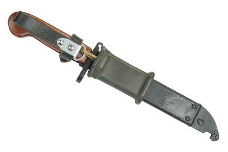 baionetta: presto a baionetta con sega fucile isolato su bianco Archivio Fotografico