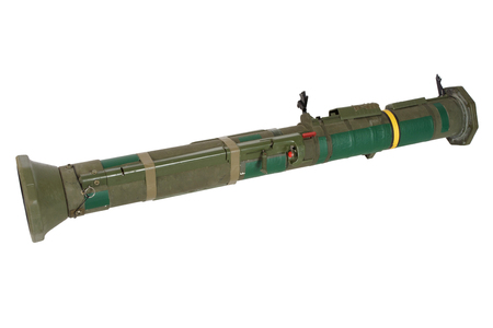 propelled: anti-tank rocket propelled grenade launcher isolated on white