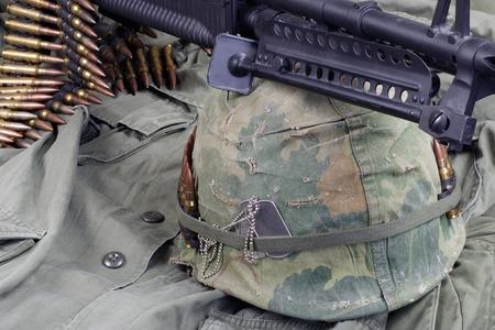 US Army in Vietnam - Vietnam war period concept background Standard-Bild
