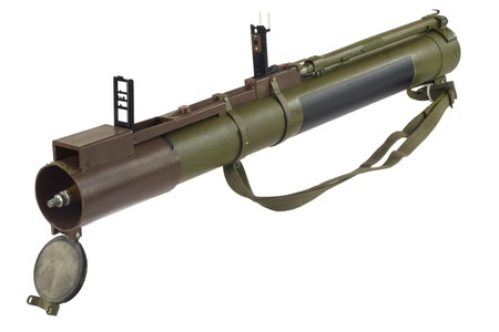 bazooka: anti-tank rocket propelled grenade launcher bazooka isolated on white
