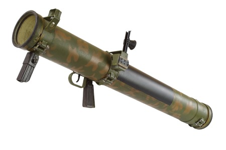 propelled: rocket propelled grenade launcher isolated on white Stock Photo