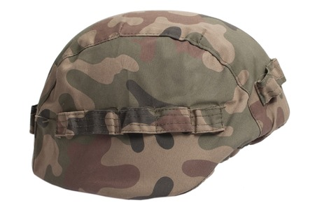 disruptive: helmet with camouflage cover