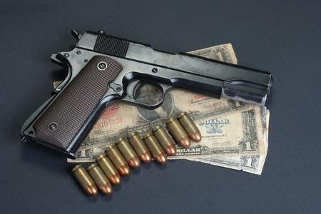 cal:  M1911 on black background Stock Photo