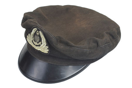 mariner: Old navy black cap with an emblem