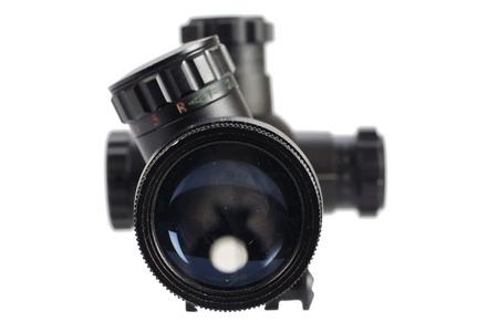scope: sniper scope isolated on white Stock Photo