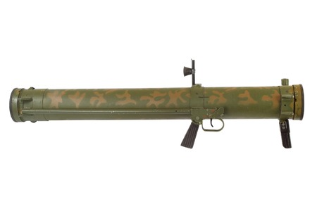 rocket propelled grenade launcher isolated on white Stock Photo
