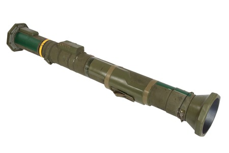 anti-tank rocket propelled grenade launcher isolated on white