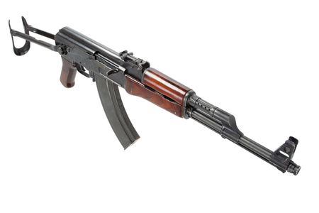 airborn: Rare first model AK - 47 assault rifle isolated on white