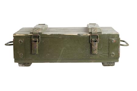 고립 된 군대의 탄약 상자