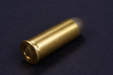 45 ammo: The .45 Revolver cartridges Wild West period on black background