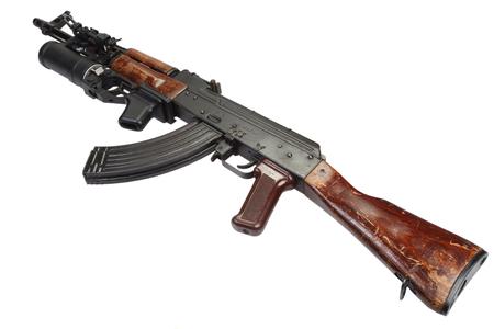 AK 47 with 40mm GP-25 grenade launcher Stok Fotoğraf
