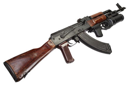 AK 47 With 40mm GP 25 Grenade Launcher Stock Photo