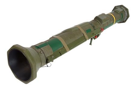 lance-grenades propulsé par fusée antichar isolé sur blanc