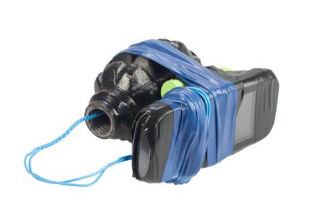 Improvised Explosive Device isolated on white