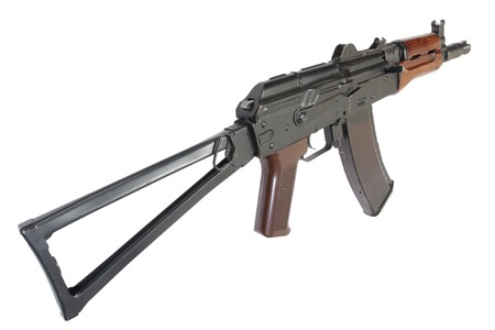 AK 74U isolated on a white background Stock Photo