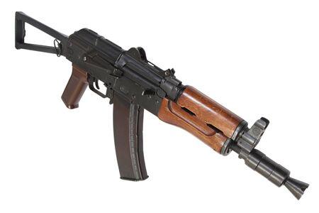 AK 74U isolated on a white background Archivio Fotografico