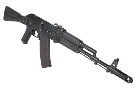 modern AK 74M assault rifle on white