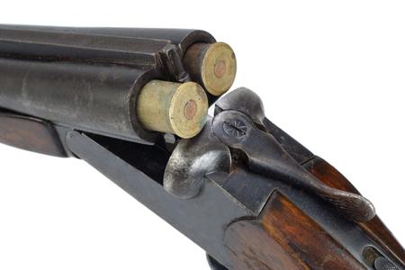 Sawn-off shotgun isolated on white