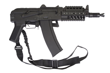 AK47 short with modern update isolated on white