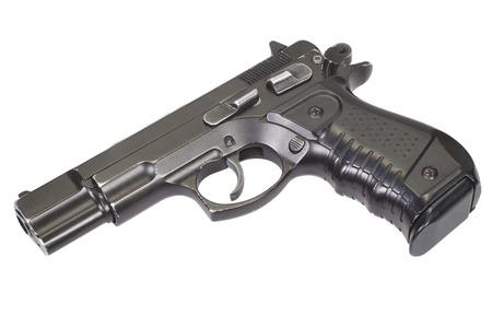 Semi-automatic handgun isolated on white