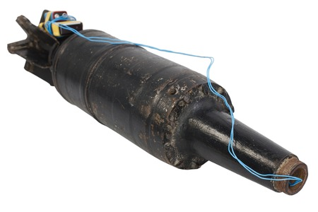 Improvised explosive device (IED ) from tank projectile Stock Photo