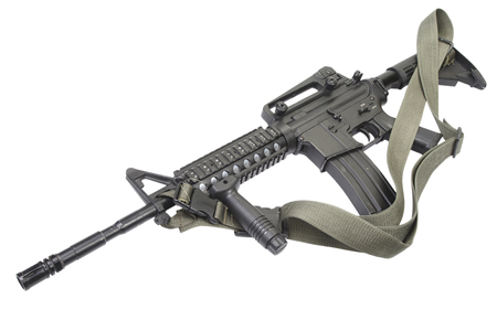 M4 carbine isolated on white Stok Fotoğraf