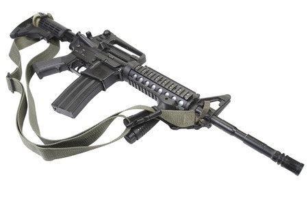 M4 carbine isolated on white Stock Photo