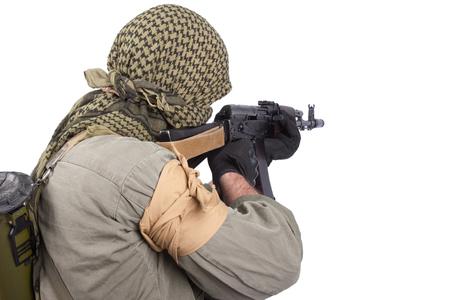 insurgent with AK 47 Фото со стока