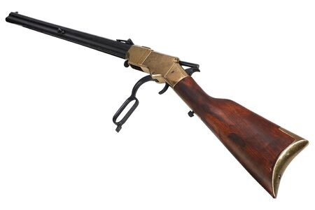 Wild west period Lever-Action Rifle isolated on white