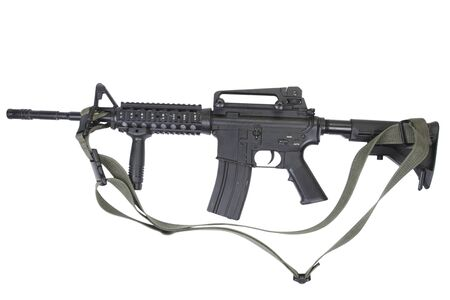 M4 carbine isolated on white