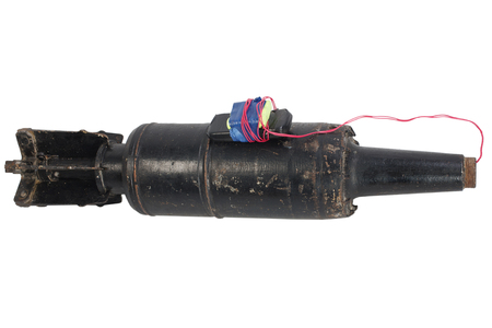 Improvised explosive device (IED ) from tank projectile 版權商用圖片