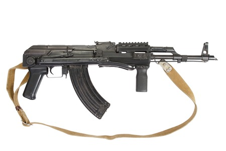 AK-47 isolated on white Stock Photo