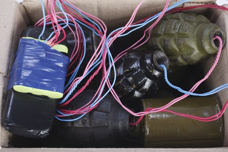 IED - Mailbomb (Improvised Explosive Device in mailbox) Stock Photo