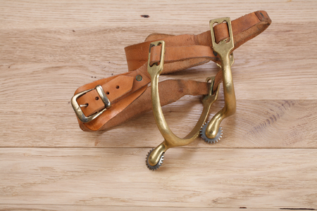 Western-style cowboy spurs with rowels