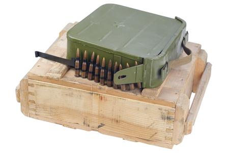 army box of ammunition isolated