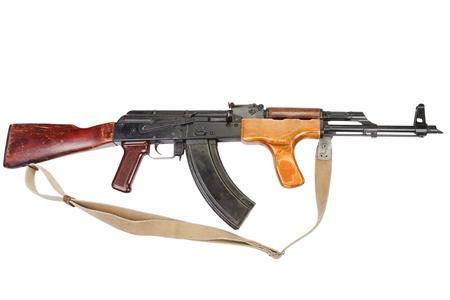 AK 47 Romanian version isolated on white