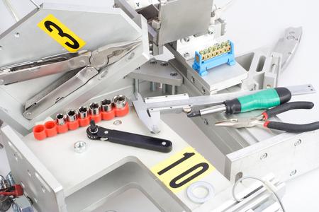 screwdriver, screw, nuts - repair of industrial equipment