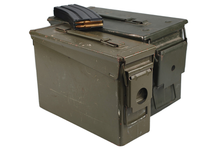 Ammo Can with ammo isolated