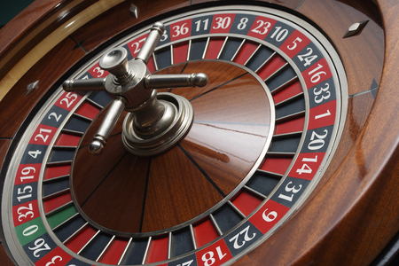 roulette wheel closeup background 版權商用圖片