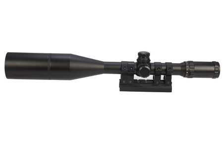 sniper scope isolated on white Stock Photo