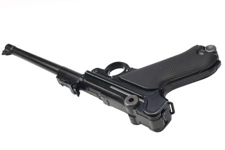 World War I period german army handgun isolated