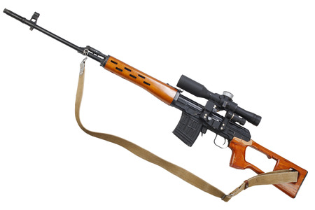 SVD sniper rifle isolated