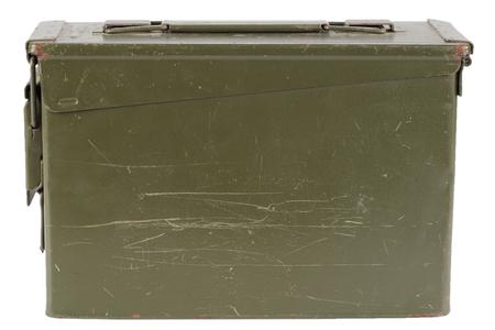 Green Ammo Box isolated on white background