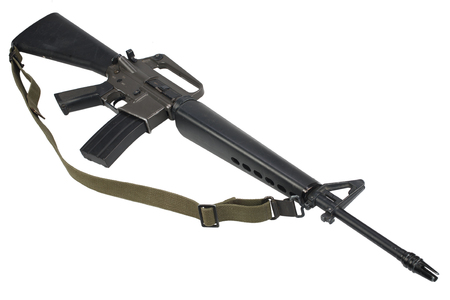 M16 rifle with Vietnam War period isolated