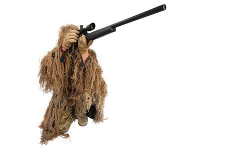 sniper in ghillie suit