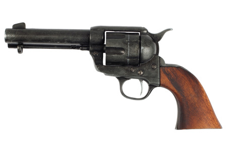 wild west revolver - colt single action army isolated on white background Archivio Fotografico
