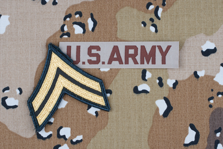 US ARMY desert uniform with rank patch