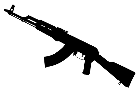AK - 47 (AKM) assault rifle black silhouette