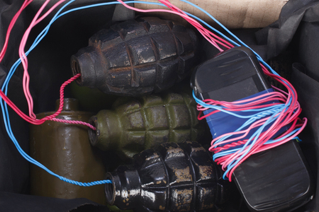 Letter bomb IED - Improvised Explosive Device in mailbox macro shot