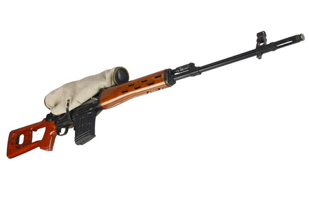SVD sniper rifle isolated on white background